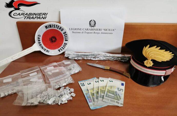 Operazione antidroga dei carabinieri di Trapani nel quartiere San Giuliano, arrestato un trentasettenne