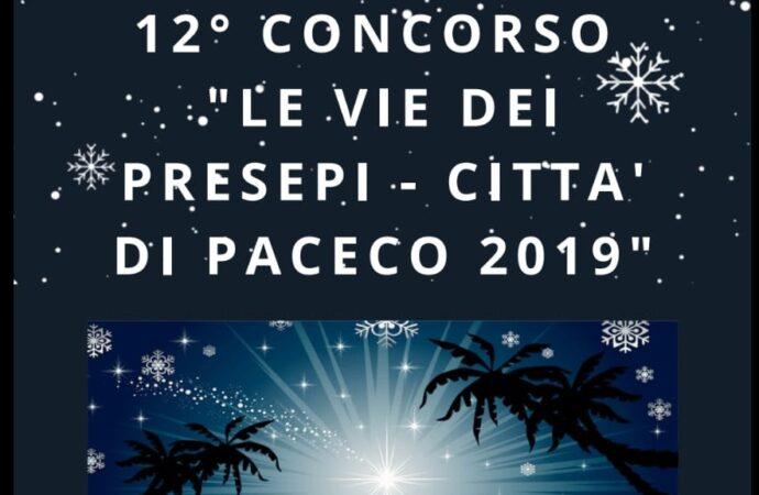 """Dodicesima edizione del concorso """"Presepi città di Paceco""""- Natale 2019"""