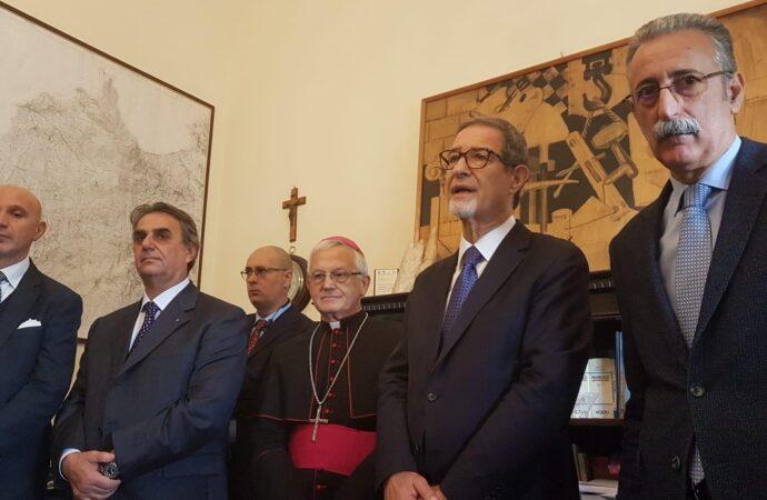 Il presidente Musumeci in visita negli uffici provinciali dell'amministrazione regionale