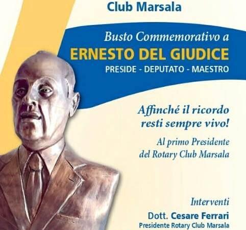 """Il Rotary Club Marsala donerà un busto alla memoria del suo primo presidente Ernesto Del Giudice all'istituto """"Abele Damiani """""""