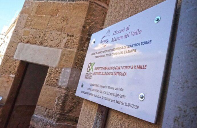 """Marsala, la torre del Carmine al secondo posto del concorso """"Salva il tuo Tesoro"""""""