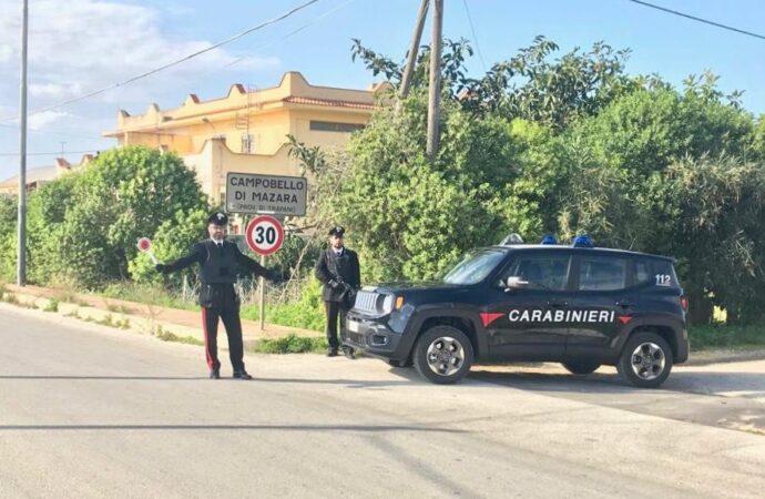 Controlli dei carabinieri a Campobello di Mazara, scatta un arresto per evasione dai domiciliari