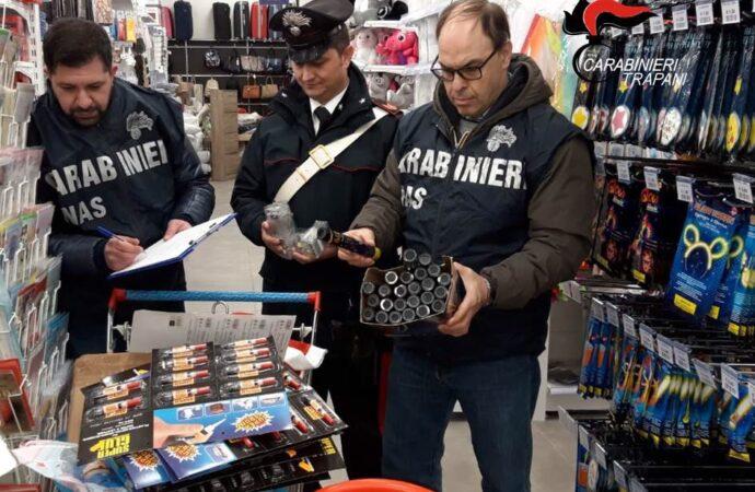 """Operazione """"Capodanno sicuro"""", sequestrati oltre mille articoli pericolosi dai carabinieri a Castelvetrano"""