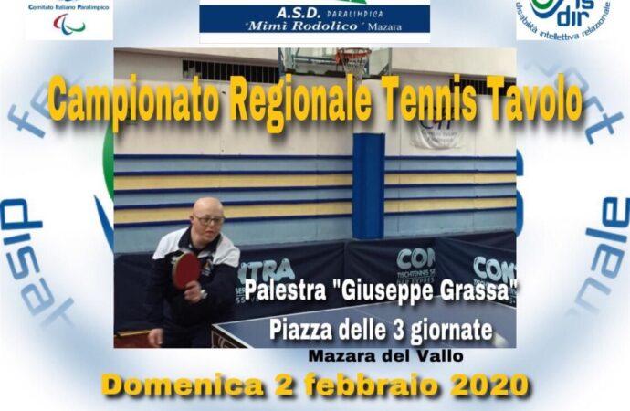 Sport, domenica a Mazara la prima giornata del Campionato Regionale di Tennis Tavolo Fisdir