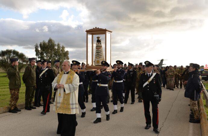Giunta al 37^Stormo l'effige della Madonna di Loreto