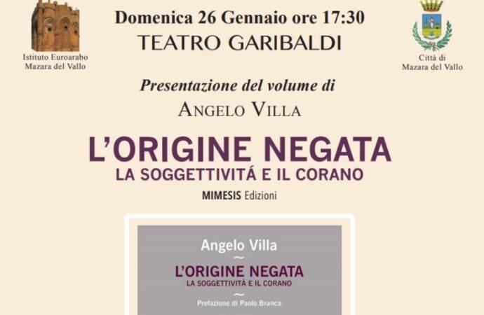 Mazara, si presenta il libro di Angelo Villa