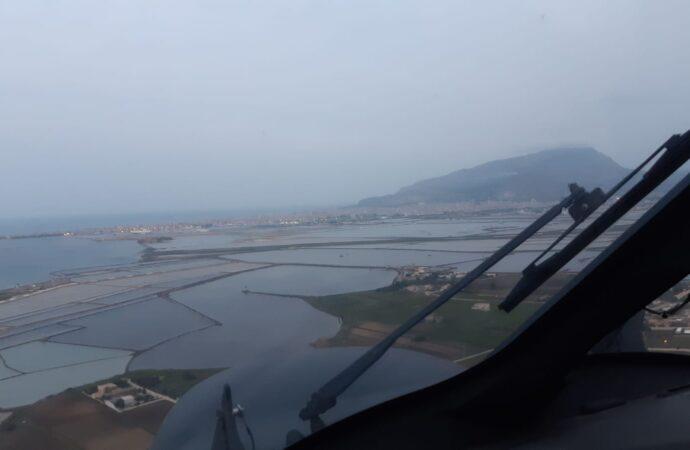Intervento antincendio dell'Aeronautica Militare di Trapani su Monte Erice