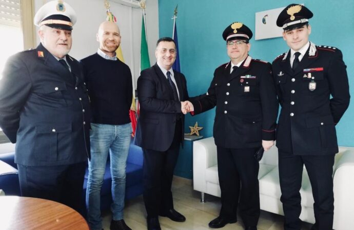 Petrosino, in visita al comune il nuovo comandante della stazione dei carabinieri