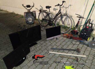 Un arresto per furto in abitazione è stato eseguito dai carabinieri di Trapani