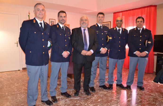 Trapani, il Questore ha ricevuto 5 nuovi vice ispettori