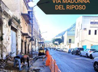 Alcamo, lavori di manutenzione nella via Maria Riposo