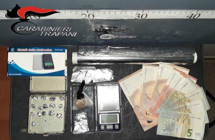 Operazione antidroga dei carabinieri di Trapani, scattano due arresti