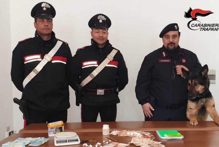 Servizio antidroga dei carabinieri di Marsala, arrestato un 65enne