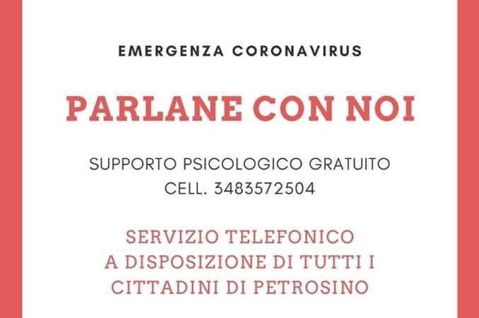 Coronavirus, avviato a Petrosino un servizio di supporto psicologico gratuito