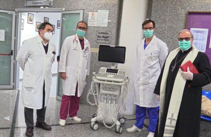 """Coronavirus, la Diocesi di Mazara del Vallo ha donato all'Ospedale """"Paolo Borsellino"""" di Marsala un ecografo di ultima generazione"""
