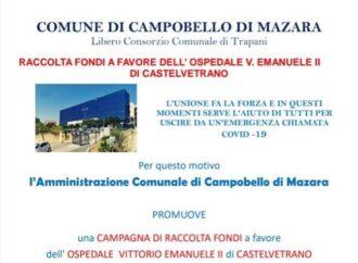 Coronavirus, la Giunta di Campobello promuove raccolta fondi per l'ospedale di Castelvetrano