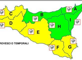 Torna il maltempo, domani allerta giallo in provincia di Trapani