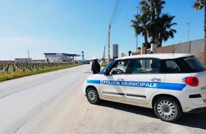 Coronavirus, controlli dei vigili urbani a Petrosino