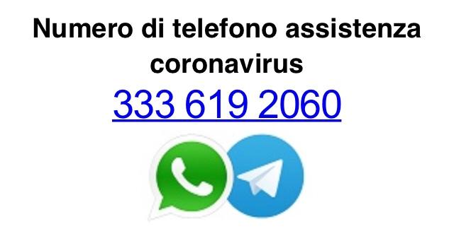 Mazara, numero di telefono assistenza coronavirus
