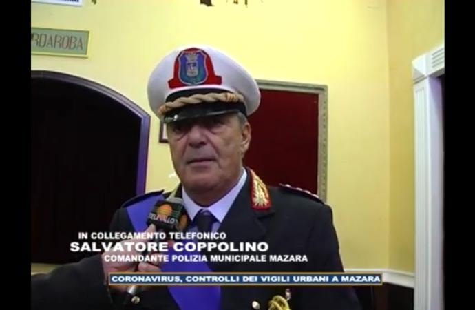 VIDEO – Coronavirus, i controlli della polizia municipale di Mazara. Intervista al comandante Coppolino