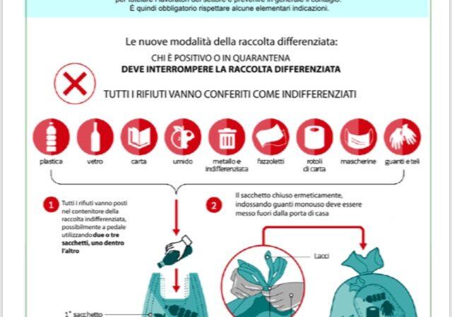 Alcamo, disposizioni su rifiuti Coronavirus a seguito delle indicazioni dell'Iss
