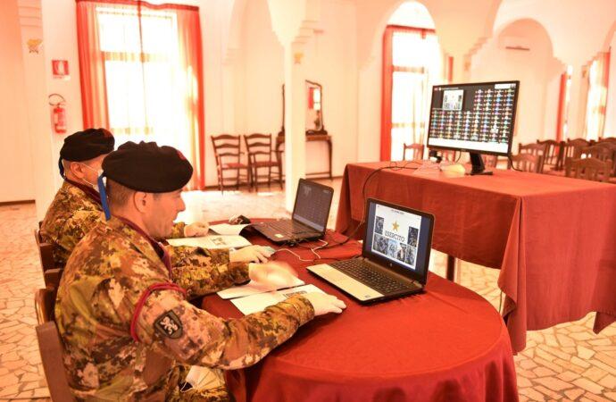 """I Bersaglieri della Brigata """"Aosta"""" avviano a Trapani videoconferenze con le scuole nell'ambito della didattica a distanza"""