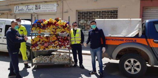 VIDEO –  Cimitero chiuso per via delle misure anti-contagio, una ditta di Mazara dona fiori per i defunti. Intervista all'Assessore comunale Michele Reina