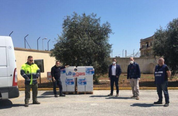 Coronavirus, Ultragas dona 450 chili di pasta alla protezione civile di Mazara
