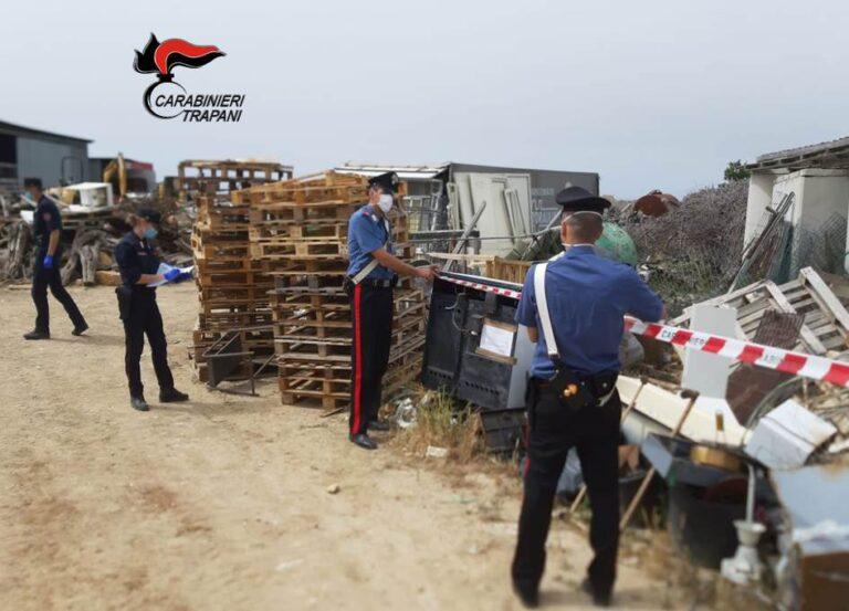 Alcamo, i carabinieri sequestrano una discarica abusiva