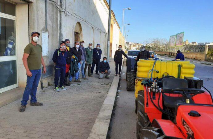 """Sanificazione, il sindaco ringrazia il gruppo """"Mazara agricola"""""""