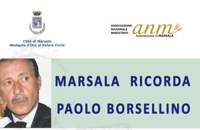 Marsala ricorda Paolo Borsellino e gli agenti della scorta