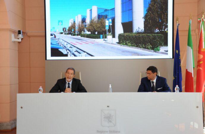 Aeroporto Florio, conferenza stampa di Musumeci e Ombra
