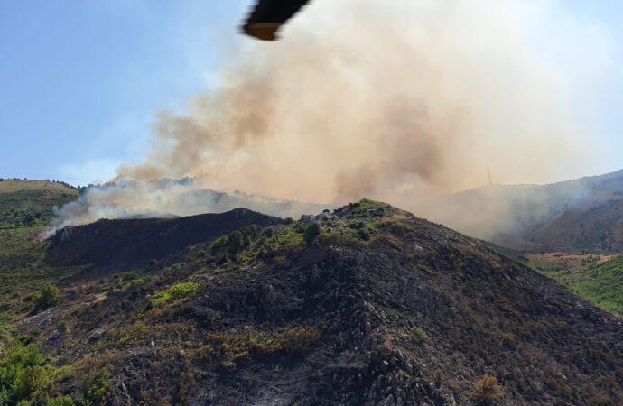 Incendio nel palermitano, intervento dell'82° Centro Csar dell'Aeronautica Militare di Trapani