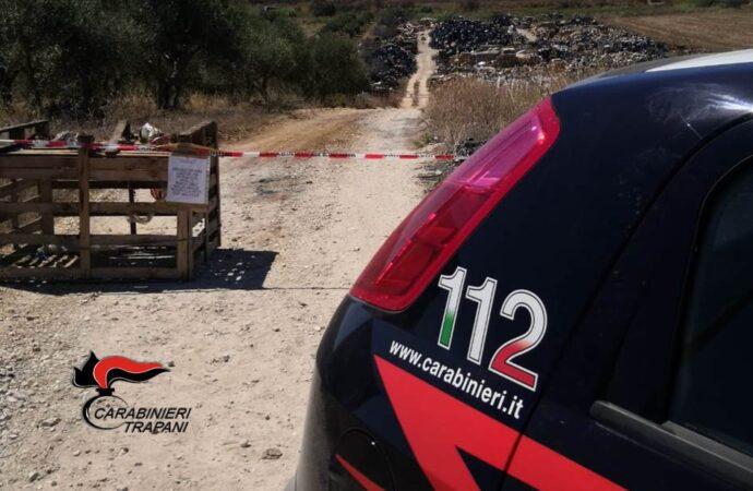 Trapani, controlli dei carabinieri. Una discarica abusiva sequestrata a Napola
