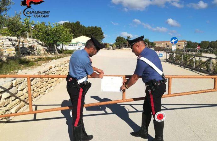 """Operazione """"Phimes 2"""", i carabinieri sequestrano la società che gestisce il parcheggio attiguo al parco archeologico di Segesta"""