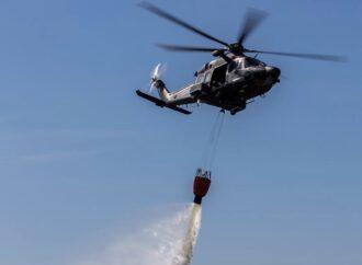 Intervento dell'Aeronautica Militare per un incendio a Poggioreale