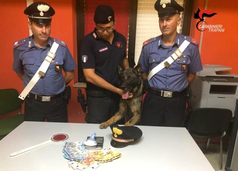 Trapani, un arresto per spaccio di droga