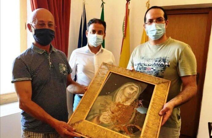 Mazara, ritrovato il quadro della Madonna rubato in via Valeria