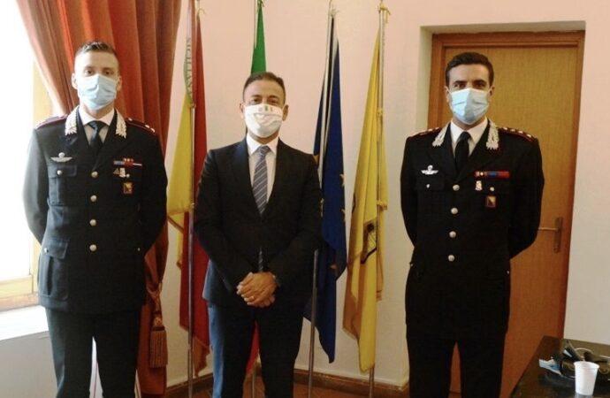 Mazara, il sindaco incontra i neo comandanti della Compagnia e del Norm dei carabinieri