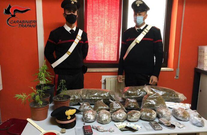 Operazione antidroga dei carabinieri a Trapani, scattano 5 arresti