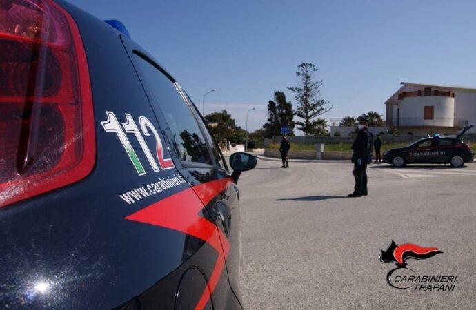 Servizio coordinato di controllo del territorio dei carabinieri a Trapani