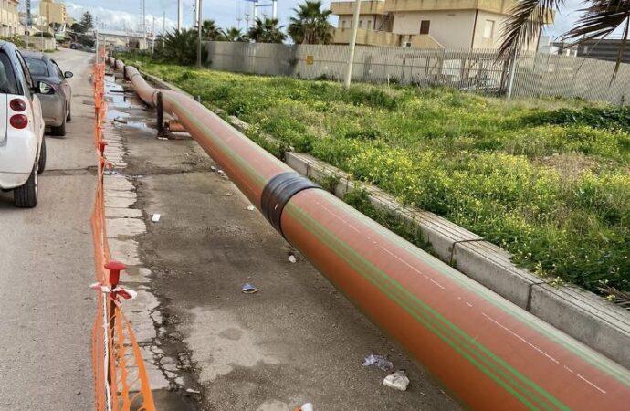 Mazara, proseguono i lavori per la realizzazione delle opere fognarie zona Trasmazzaro