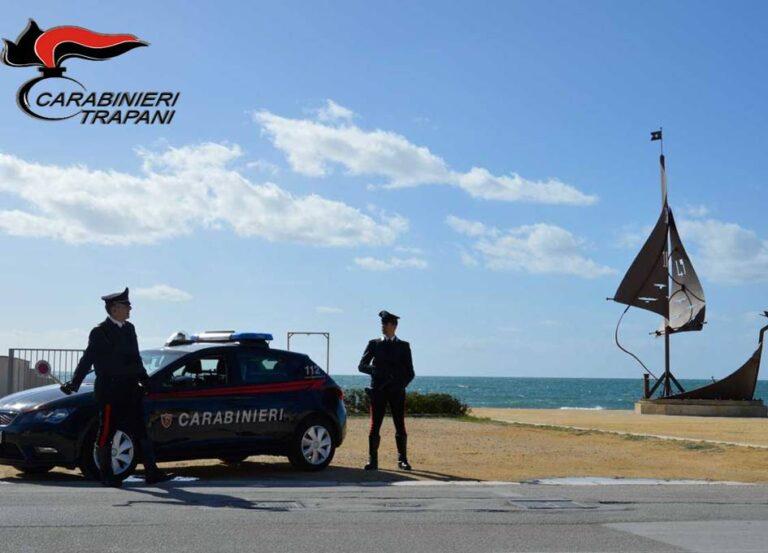 Servizi di controllo del territorio dei carabinieri di Mazara, un denunciato e varie multe