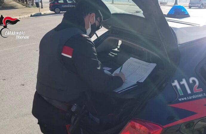 Controlli dei carabinieri di Trapani sul rispetto delle misure anti-Covid, scattano 50 multe