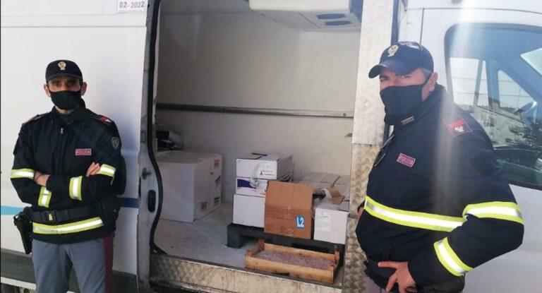 Sequestrati 116 chili di pesce allo svincolo autostradale di Alcamo Ovest