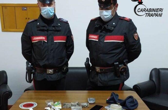 Un 23enne arrestato dai carabinieri di Alcamo per spaccio di droga