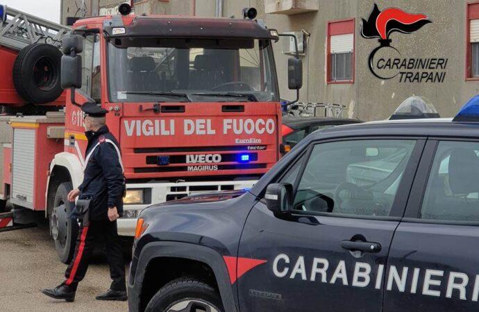 Incendio in un'abitazione di Petrosino, salvata una famiglia