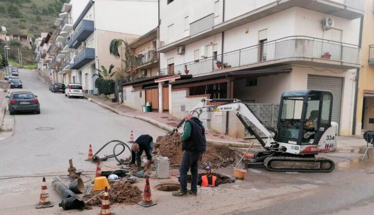 Alcamo, in corso i lavori di manutenzione della rete idrica