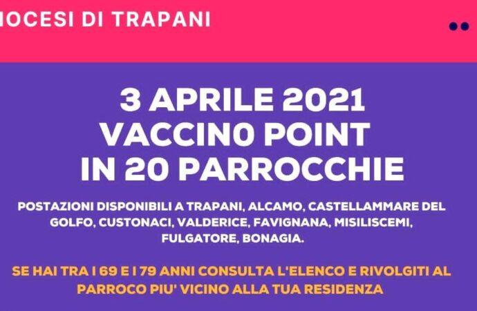 Diocesi di Trapani, sabato 3 aprile vaccinazioni per il target 69/79 anni