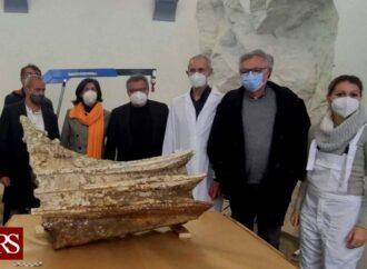 Egadi, iniziato il restauro dell'ultimo rostro individuato da Tusa